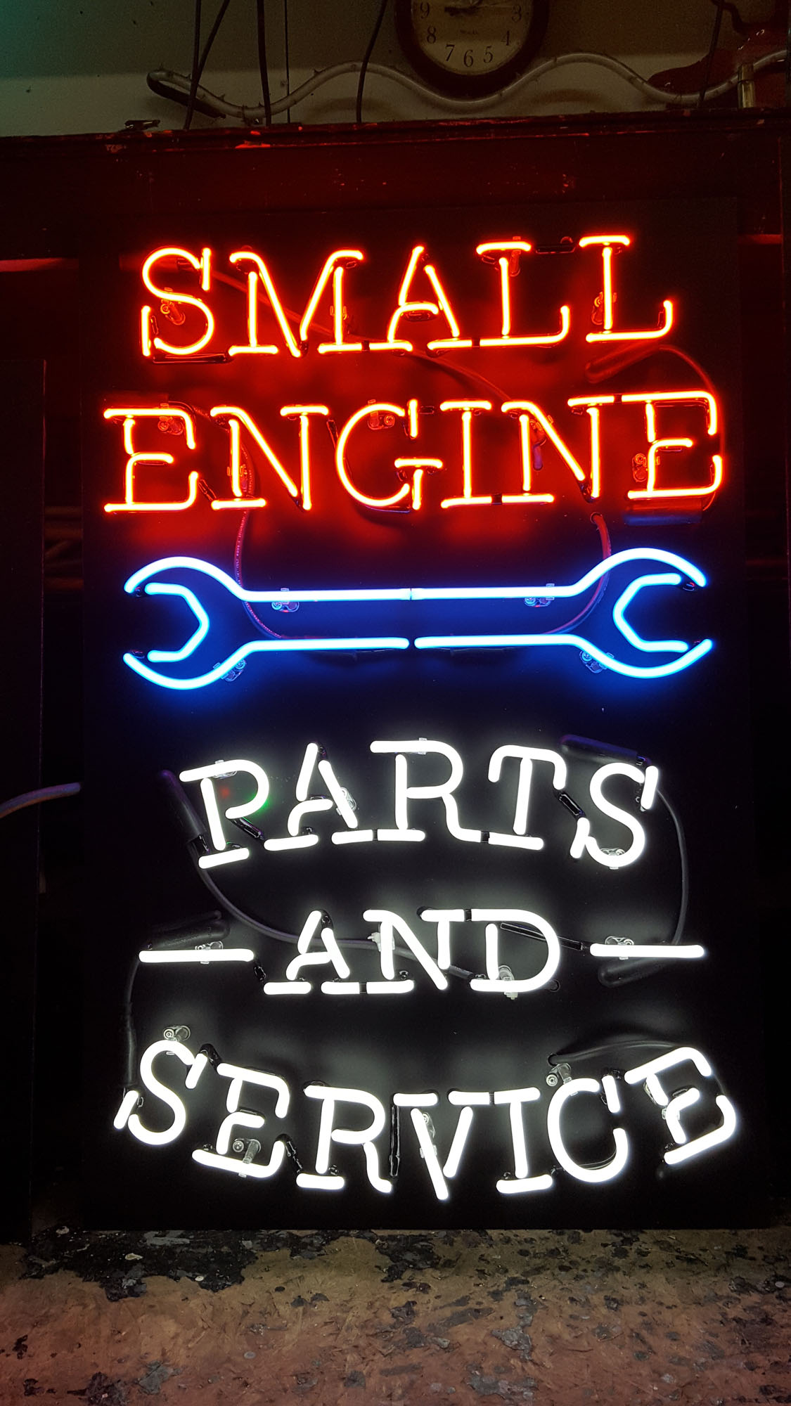 Small Engine Parts and Service Neon Sign by DeMars Signs